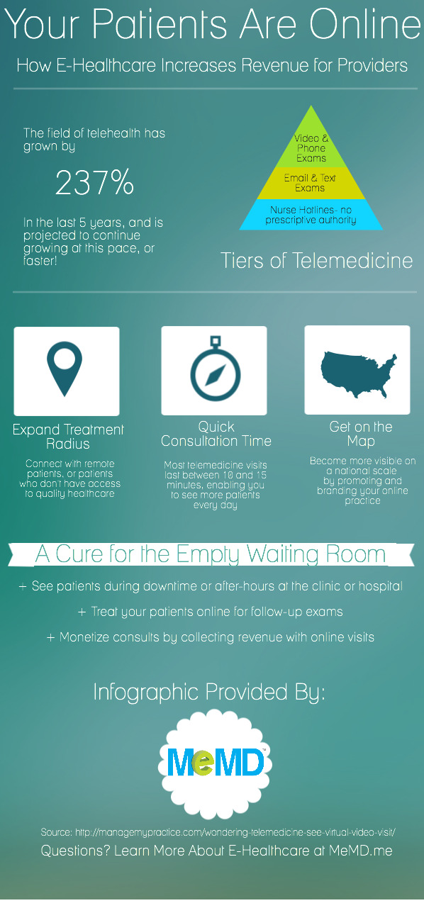 How E-Healthcare Increases Revenue for Medical Providers (Infographic)