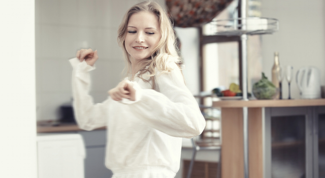 Dancing at the kitchen